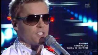 Star Pilots Higher 1 Live Melodifestivalen 2009 Andra Chansen