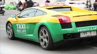 Thailand Bangkok Städte der Extreme - Supersportwagen Taxi - Porsche, Lamborghini