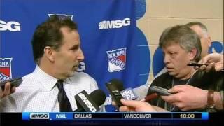 Rangers Coach, Reporter Drop The Verbal Gloves