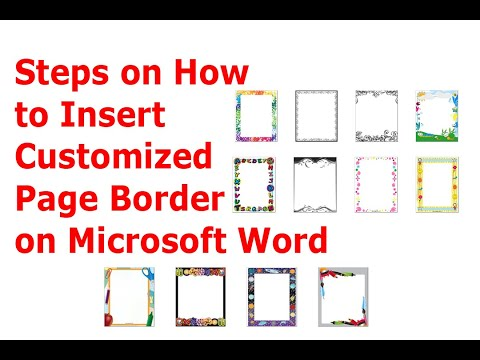 Steps On How To Insert Customized Page Border On Microsoft Word