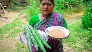 Snake Gourd with Red Lentil Village Cooking Recipe by Village Food Life