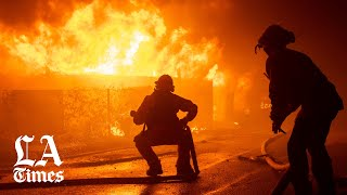 Getty fire erupts overnight