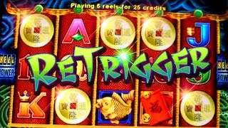 5 Dragons Bonus + RETRIGGER BIG WIN!!! - 5c Aristocrat Video Slots