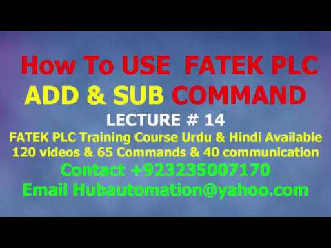 How to use fatek plc Data ADDITION & SUBTRACTION ADD & SUB COMMAND ...
