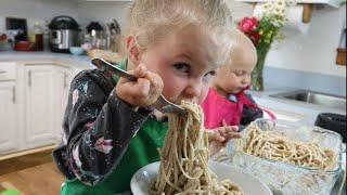 Sisters cook delicious pasta recipe