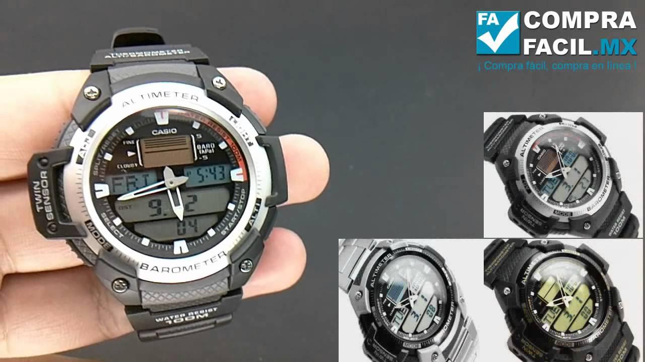 7adf0566affc Reloj Casio Outgear SGW 400 - CompraFacil.mx - YouTube