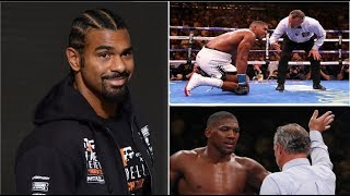 DAVID HAYE LEAKS WHAT WENT WRONG WITH ANTHONY JOSHUA IN SPARRING!! BOXING NEWS:
