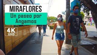 Caminata por Av. Angamos, Miraflores Lima Perú 2021 4k, walk lima peru
