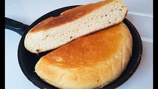 Домашний ХЛЕБ на Сковороде Как Приготовить Хлеб без Духовки