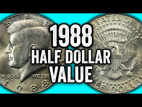 HOW MUCH Is A 1988 HALF DOLLAR COIN WORTH??