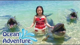 6 Yr Old Swims with Pet Dolphins