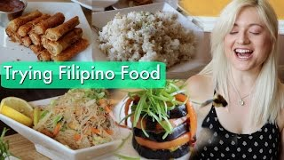 I Try Filipino Food for the First Time