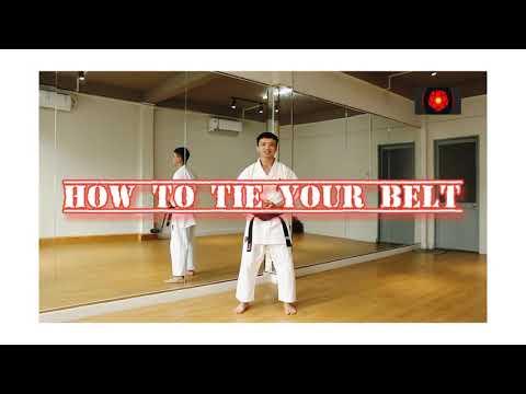Hướng dẫn cách mang đai Karate chuyên nghiệp