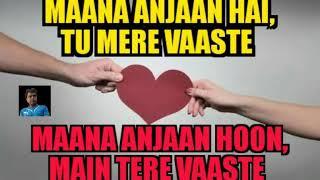 Maana Anjaan Hai, Tu Mere Vaaste Maana Anjaan Hoon, Main Tere Vaaste...