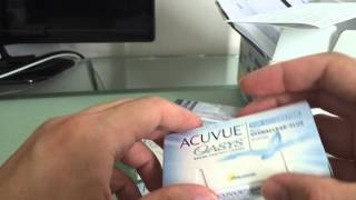 1-800 Contacts Unboxing of Acuvue Oasys for Astigmatism(Watch me unbox a magnificent box from 1800CONTACTS., 2015-08-16T10:48:12.000Z)