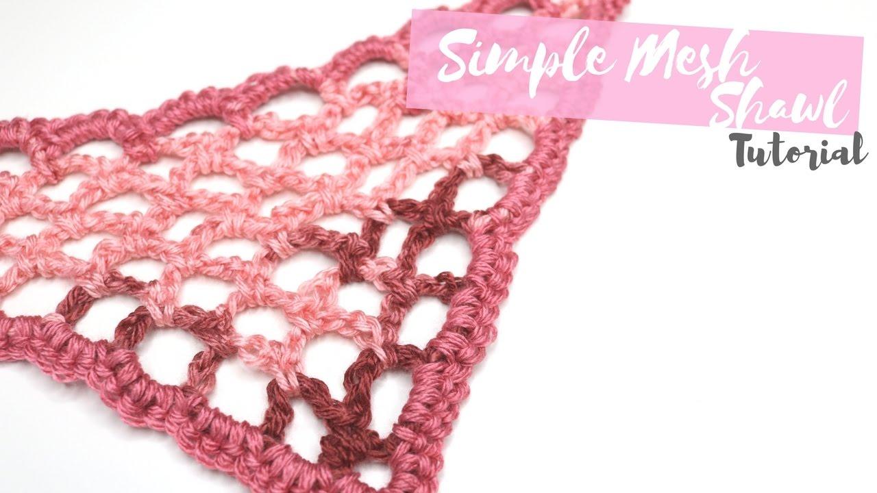 Crochet Simple Mesh Shawl Bella Coco Youtube