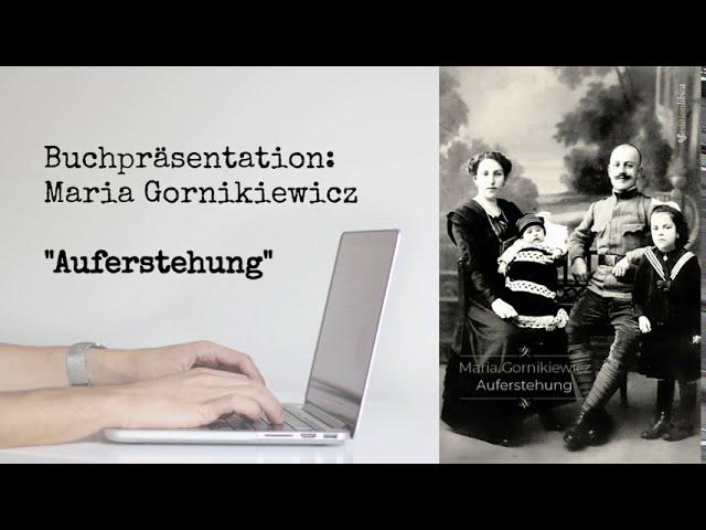 Buchpräsentation: Maria Gornikiewicz.