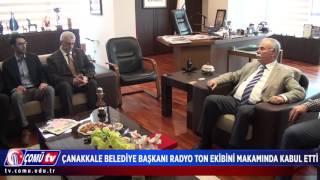 ÇOMÜ TV 2016 - Çanakkale Belediye Başkanı Radyo Ton Ekibini Makamında Kabul Etti