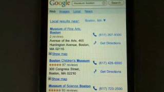 New Google Search results pages for iPhone