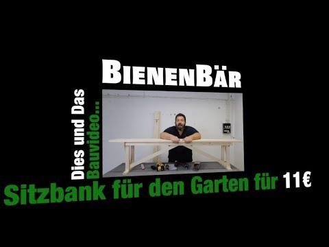 sitzbank f r unter 10 euro selber bauen diy sehr stabil youtube. Black Bedroom Furniture Sets. Home Design Ideas