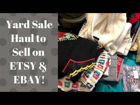 Yard Sale Haul To Sell on Ebay & Etsy! | Reseller Haul | Clothing Haul | March 24th 2018