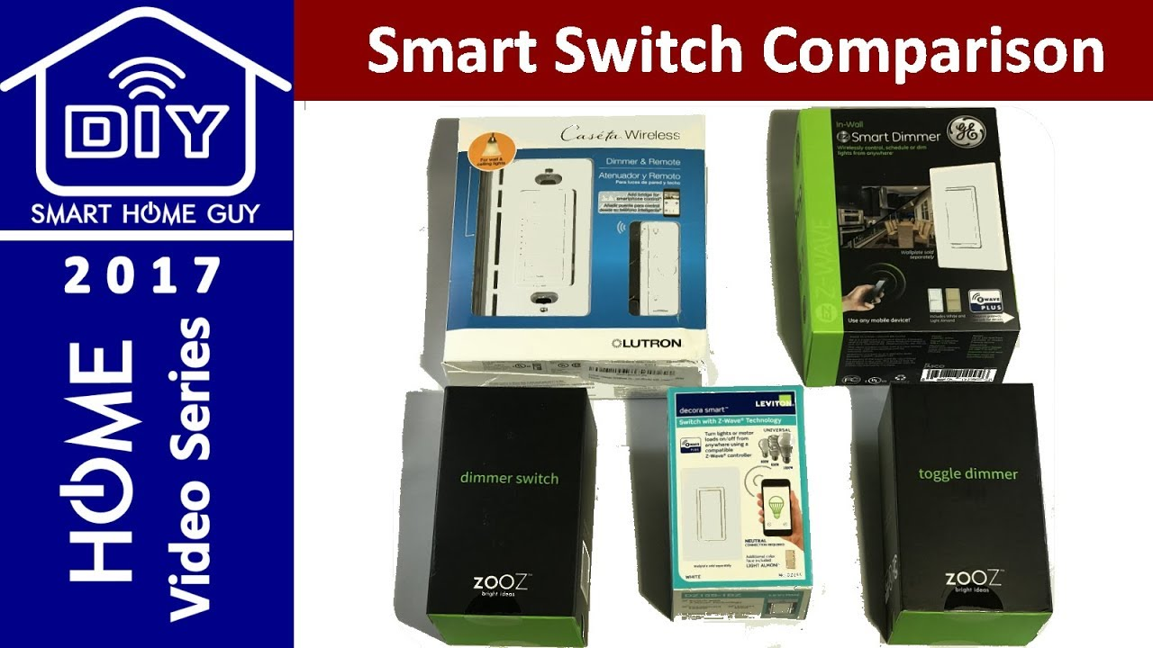 UPDATED Zooz, GE, Lutron, and Leviton Smart Wall Switch Review - YouTube