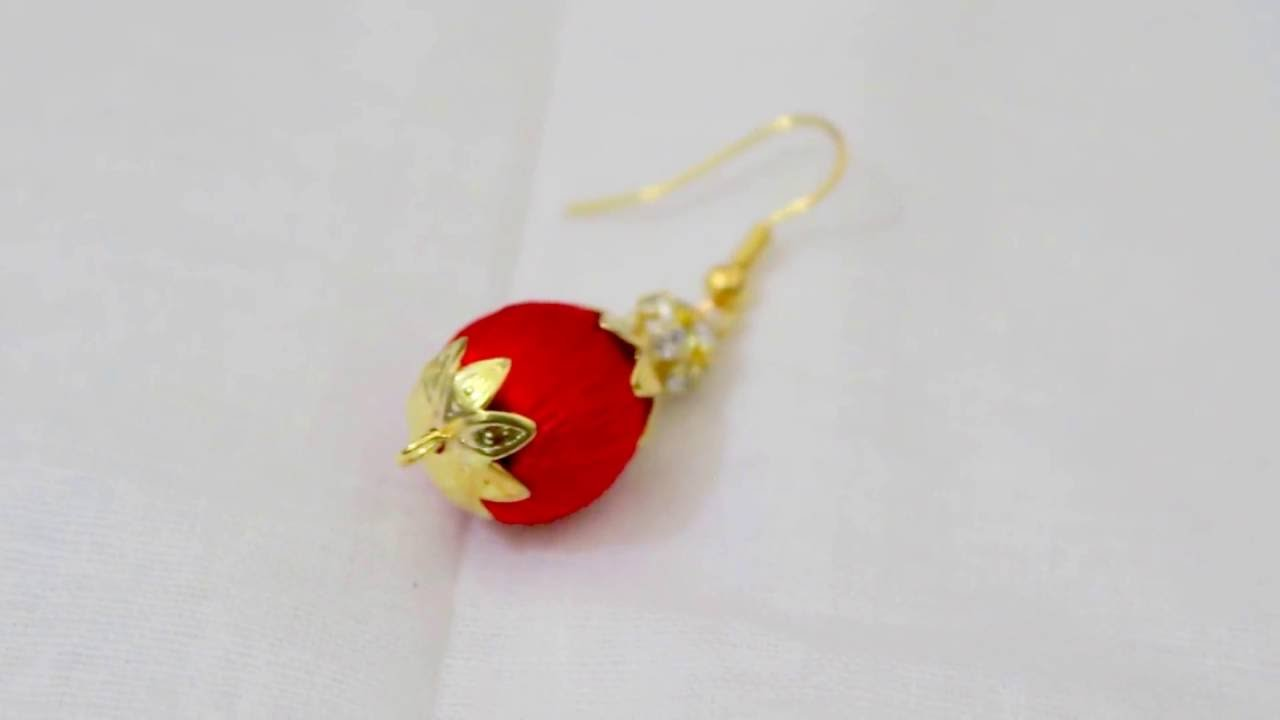 How To Make Silk Thread Earrings