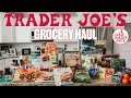 FIRST TIME SHOPPING AT TRADER JOE'S | TRADER JOES GROCERY HAUL | GROCERY SHOPPING FOR A FAMILY