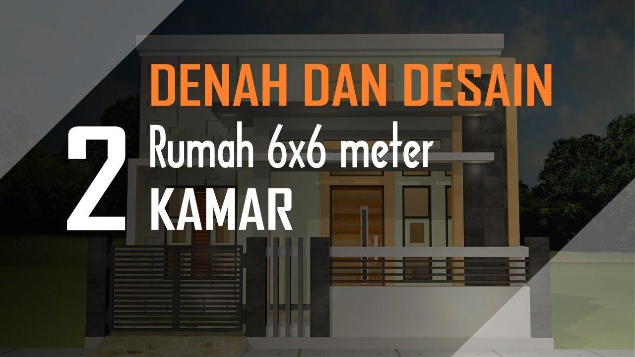 Desain Rumah 6x6 SELAIN TERAS DEPAN 2 Kamar Tempat Tandon Air