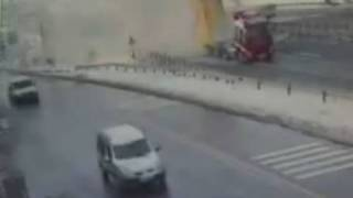 Truck destroys bridge in Turkey