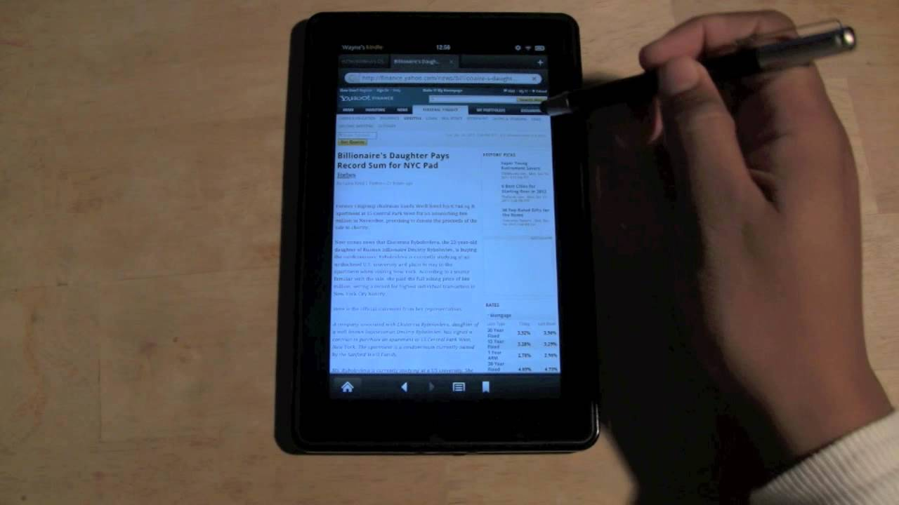 Kindle Fire: How To Clear Web History  H2techvideos