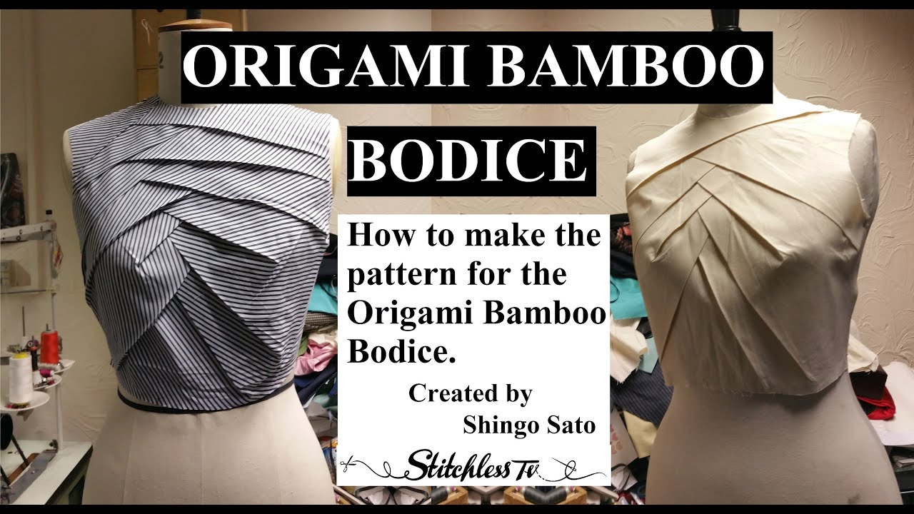Origami Bamboo Bodice Tutorial TR Cutting