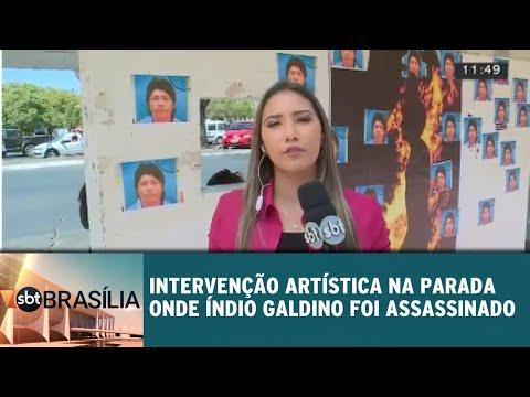 Intervenção artística na parada onde índio Galdino foi assassinado | SBT Brasília 01/08/2018