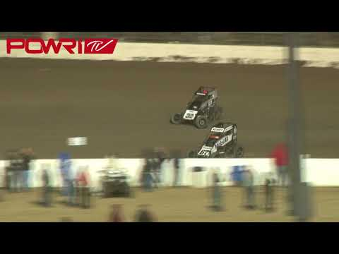 4/21/18 POWRi Lucas Oil National Midgets at I-55 Raceway A-Main Highlights