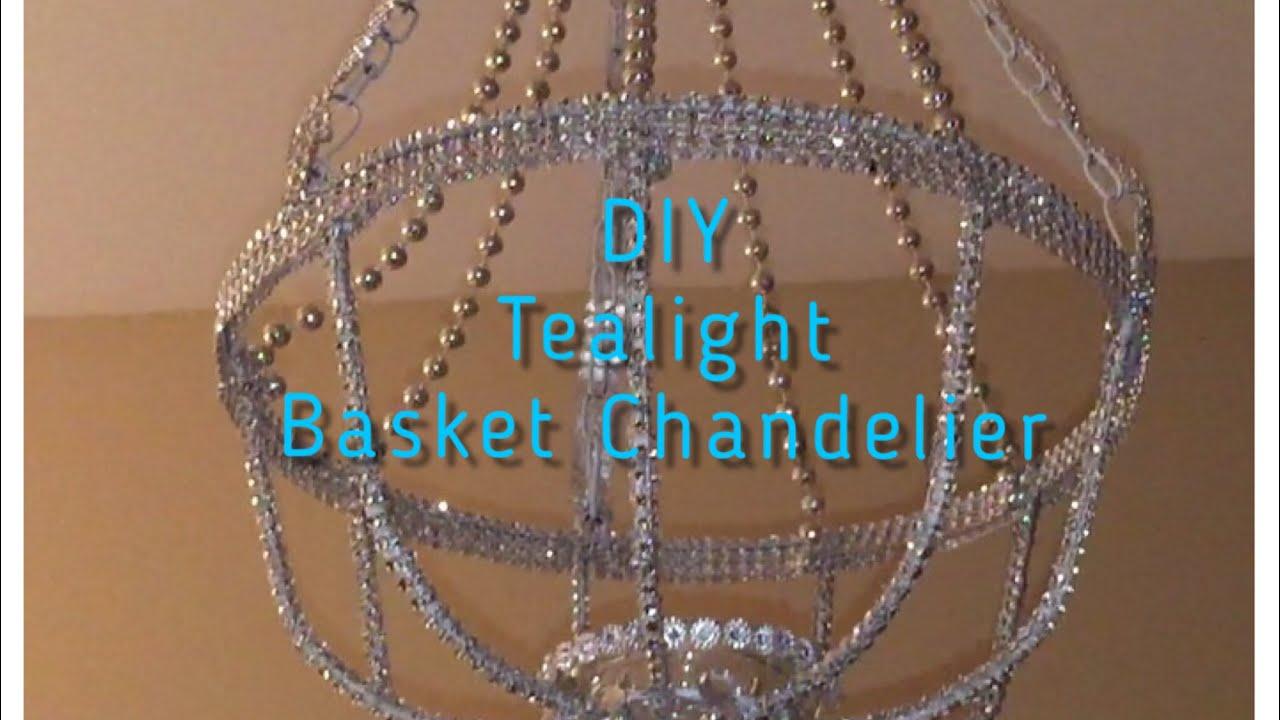Diy basket tealight chandelier youtube diy basket tealight chandelier aloadofball Gallery