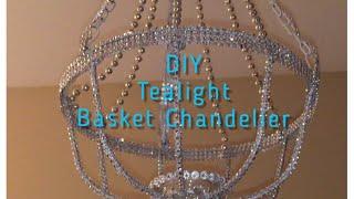 DIY Basket Tealight Chandelier