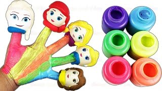 children body paint finger family nursery rhymes disney princess learn colors fun creative for kid