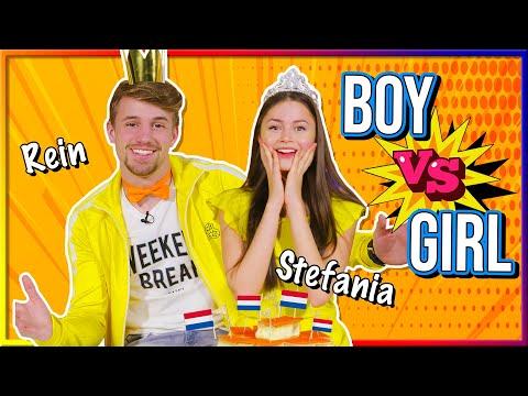 STEFANIA VERTELT REIN OVER JANNES | BOY VS GIRL (Koningsdag special)