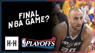 Manu Ginobili Full Game 5 Highlights Spurs vs Warriors 2018 NBA Playoffs - 10 Pts, FINAL NBA Game?