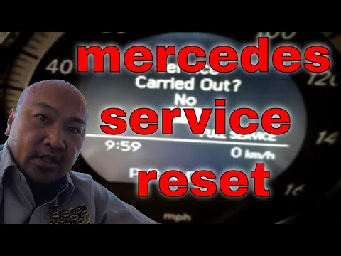 How to reset service indicator light mercedes benz glk350 for B1 service mercedes benz