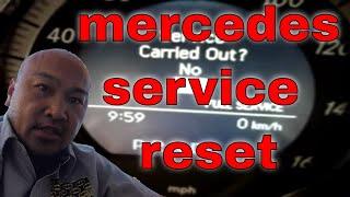 how to reset service indicator light mercedes benz glk350