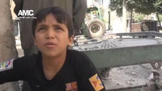 حلب حي المرجة اثار الدمار في موقع المجزرة وشهادات الاهالي 15 9 2014