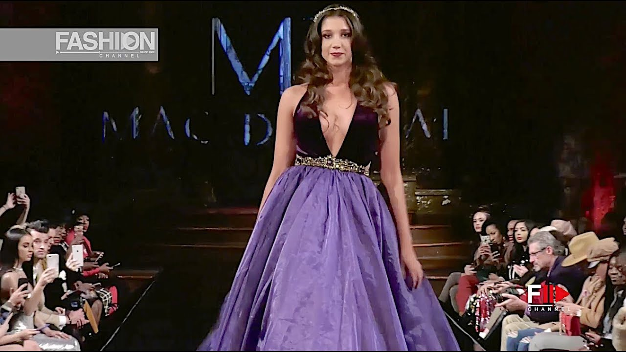 95e04f26c8 MAC DUGGAL NYFW Art Hearts Fashion Fall 2018 2019 - Fashion Channel ...