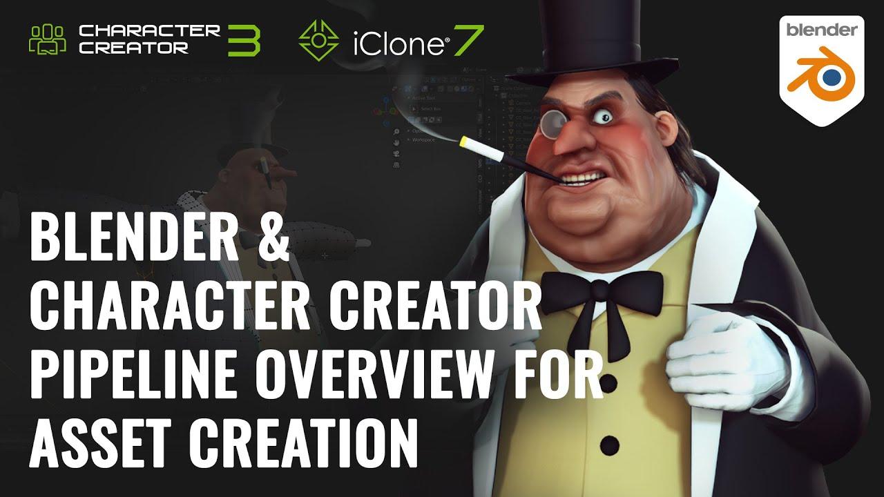 blender animation - blender & character creator pipeline overview for asset creation