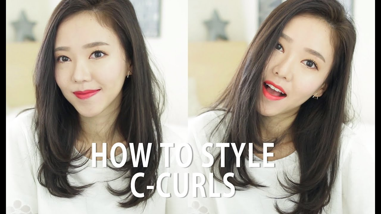 how to style shoulder length hair without heat 한글자막 how i style my hair with c curls 헤어 스타일링 c컬 7232