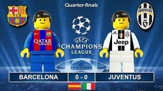 Barcelona vs Juventus 0-0 • Champions League 2017 (19/04/2017) Lego Football goal highlights Juve