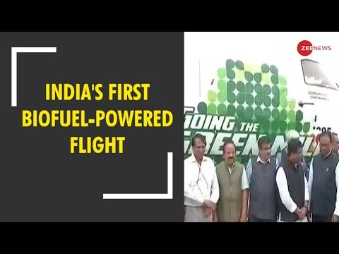Watch: India's first biofuel-powered flight from Dehradun to Delhi