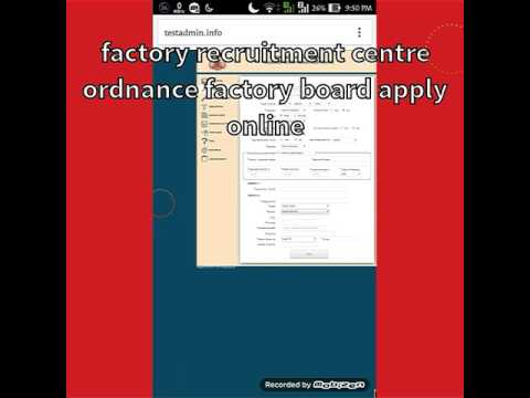 How to fill Ordnance || Factory Recruitment 2017 ||  Apply Online for OFB 7048 Trade  Vacancy