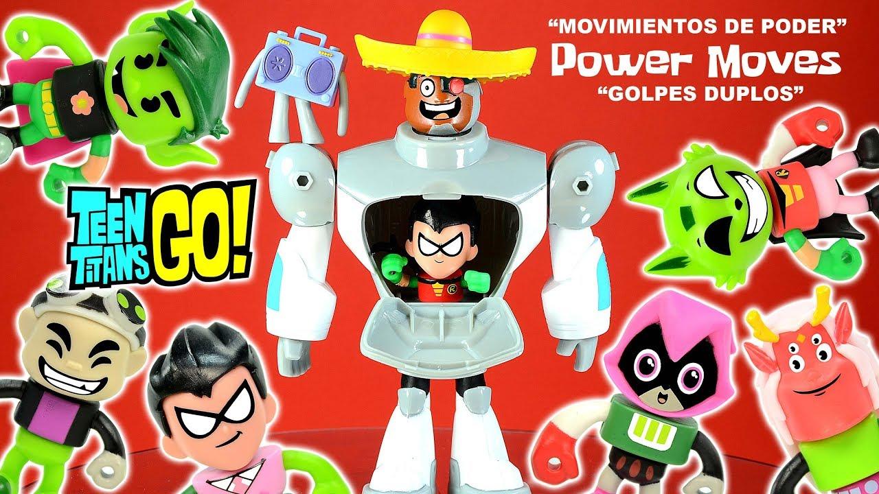 Teen Titans Go Cyborg  Robin Power Moves Plus Raven -6025