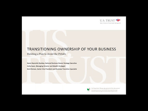 Transitioning Ownership of your Business